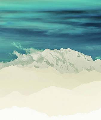 Digital Art - Blue Mountain by Uma Gokhale