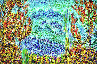 Digital Art - Blue Mountain Visions by Joel Bruce Wallach