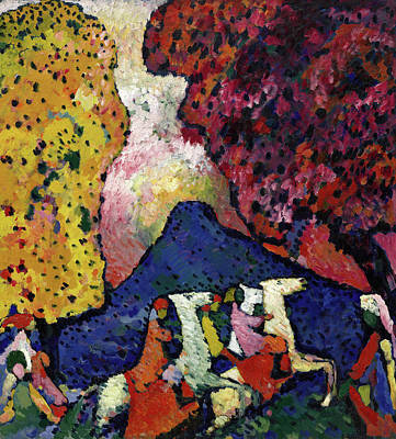 Horseback Painting - Blue Mountain by Wassily Kandinsky