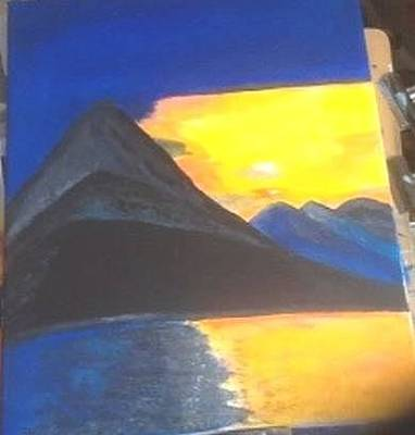 Painting - Blue Mountains by Audrey Pollitt