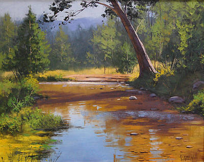 Impressionism Paintings - Blue Mountains Coxs River by Graham Gercken