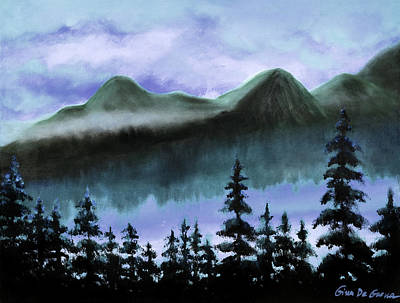 Painting - Blue Mountains by Gina De Gorna