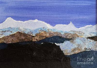 Decorating Mixed Media - Blue Mountains II by Sharon Eng