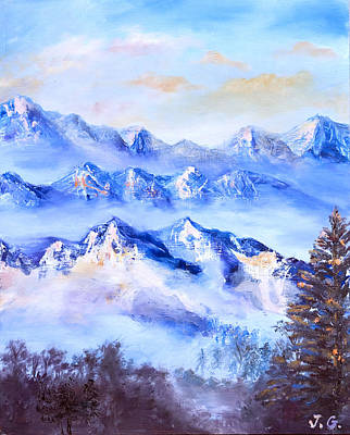 Mood Painting - Blue Mountains by Jana Goode