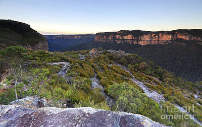 Caravaggio - Blue Mountains looking into the Grose Valley and Blue Gum Fores by Leah-Anne Thompson