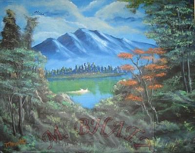 Blue Mountains Art Print by M Bhatt