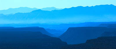 Blue Mountains Art Print by Mike McGlothlen