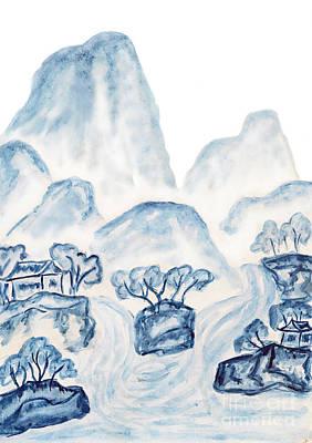 Painting - Blue Mountains, Painting  by Irina Afonskaya