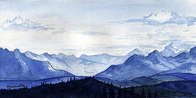 Painting - Blue Mountains by Timithy L Gordon