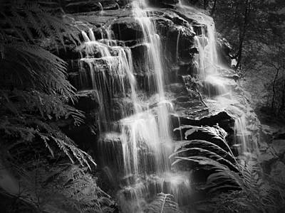 Photograph - Blue Mountains Waterfall by Georgiana Romanovna