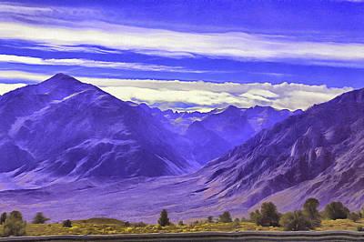 Digital Art - Blue Mountains.sierra Nevada by Viktor Savchenko