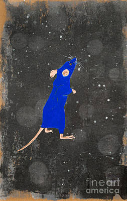 Painting - Blue Mouse by Stefanie Forck