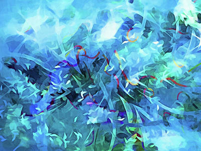 Abstract Movement Digital Art - Blue Movement by Lutz Baar