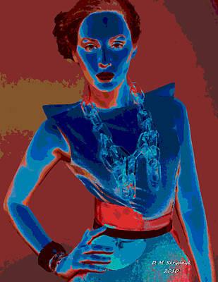 Digital Art - Blue Muse by David Skrypnyk