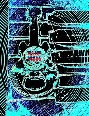 Blue Music Vibes By Jasna Gopic Art Print by Jasna Gopic