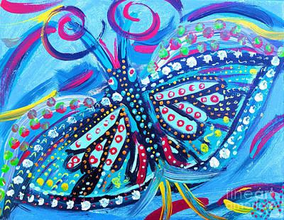 Blue Mystical Butterfly Art Print