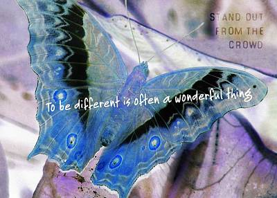 Photograph - Blue Negative Quote by JAMART Photography