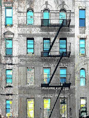 Mixed Media - Blue Neighbors by Tony Rubino