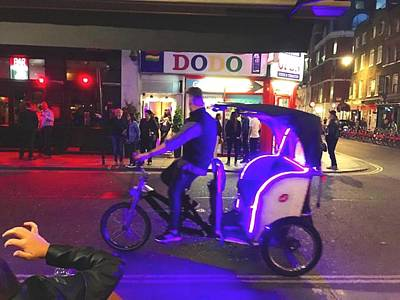 Kitchen Mark Rogan - Blue Neon Rickshaw by Steve Swindells