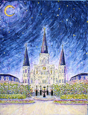 Painting - Blue Night Cathedral by Catherine Wilson