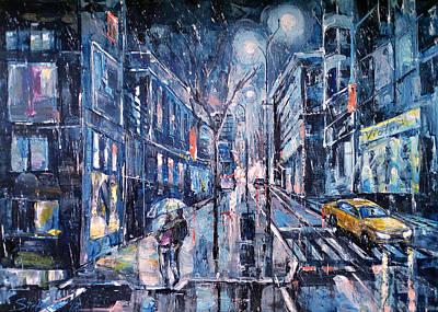 Painting - Blue Night II by Stefano Popovski
