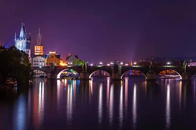 Photograph - Blue Night In Prague by Jenny Rainbow