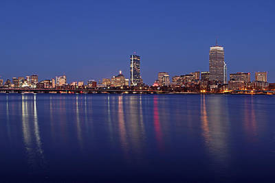 Charles River Photograph - Blue Night by Juergen Roth