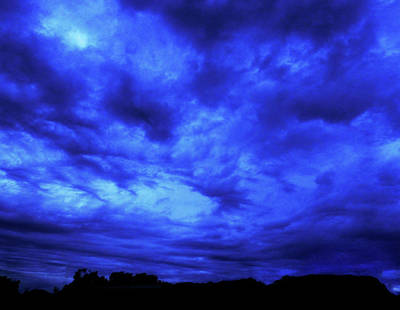 Photograph - Blue Night by Mark Blauhoefer