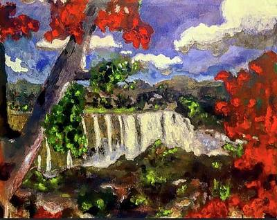 Painting - Blue Nile Falls Ethiopia by Dilip Sheth