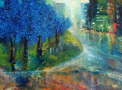 Cit Painting - Blue Noon by Laura Swink
