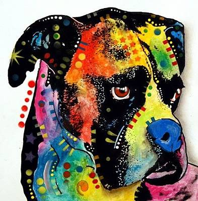 Boxer Painting - Blue Nose Boxer  Ebay by Dean Russo