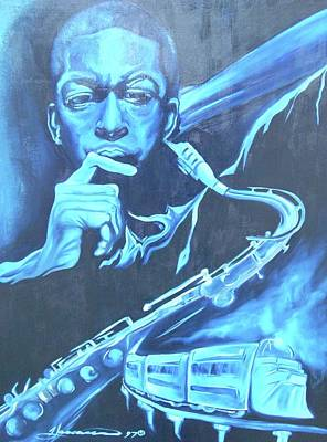 Wall Art - Painting - Blue Note by Hasaan Kirkland