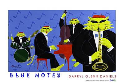 Painting - Blue Notes by DG Daniels