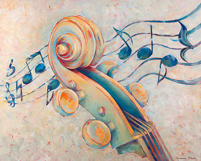 Violin Painting - Blue Notes by Susanne Clark