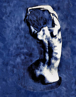 Nude Photograph - Blue Nude After Picasso by Joe Bonita
