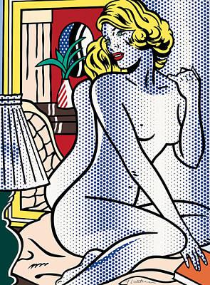 Photograph - Blue Nude By Roy Lichtenstein by Doc Braham - In Tribute to Roy Lichtenstein
