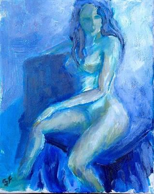 Painting - Blue Nude by Sally Fraser