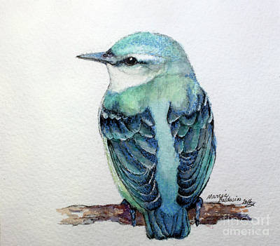 Painting - Blue Nuthatch by Marcia Baldwin