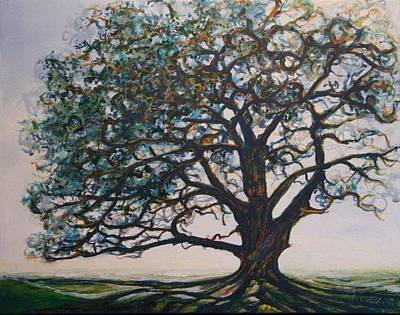 Painting - Blue Oak by Michele Hollister - for Nancy Asbell