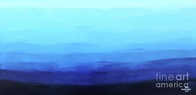 Painting - Blue Oasis by Sean Brushingham