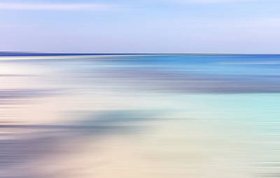 Photograph - Blue Ocean Abstract by Jenny Rainbow