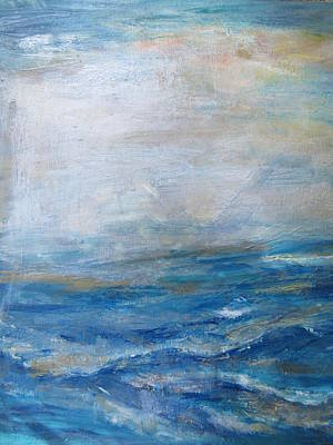 Painting - Blue Ocean  by Denice Palanuk Wilson