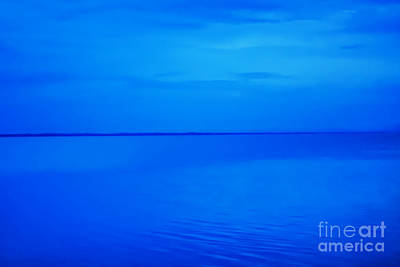 Book Illustrations Digital Art - Blue Ocean Twilight by Randy Steele