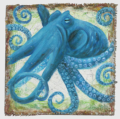 Blue Octo Art Print by Danielle Perry