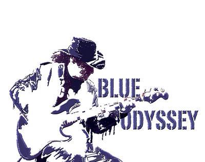 Blue Odyssey Art Print