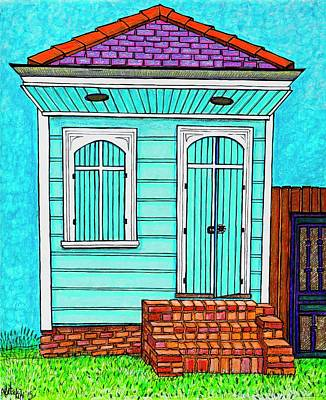 Screen Doors Painting - Blue Off Broad by Aleta Kim Lawton