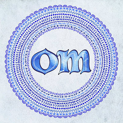 Painting - Blue Om Mandala by Tammy Wetzel