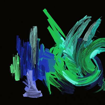 Scottsdale Mixed Media - Blue On Black by Chris Bradley