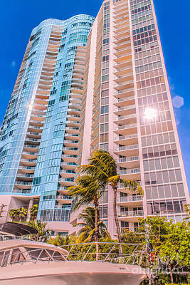 Aqua Condominiums Photograph - Blue On Blue by Claudia M Photography