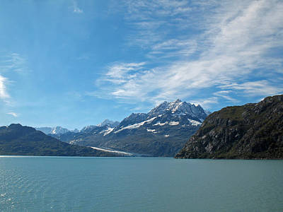Photograph - Glacier Bay Seascapes. Blue On Blue  by Connie Fox